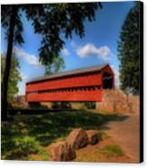 Sach's Covered Bridge Canvas Print by Lois Bryan
