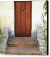 Sacred Heart Door Canvas Print