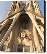 Sagrada Familia Church In Barcelona Antoni Gaudi Canvas Print by Matthias Hauser