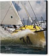 Sailboat Le Pingouin Open 60 Charging  Canvas Print
