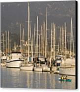 Sailboats Docked In The Santa Barbara Canvas Print