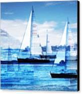 Sailboats Canvas Print by MW Robbins