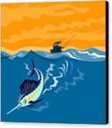 Sailfish Fishing Boat Canvas Print by Aloysius Patrimonio
