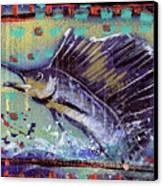 Sailfish Canvas Print by Robert Wolverton Jr