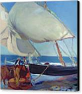 Sailing Boats Canvas Print by Joaquin Sorolla y Bastida