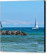 Sailing Days On Lake Erie Panorama Canvas Print