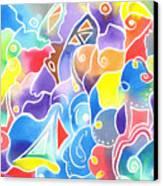 Sailing Maze Canvas Print by Carolyn Weir