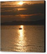Sailing The Great Salt Lake At Sunset Canvas Print
