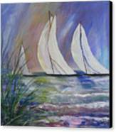 Sailing The Windy Sea Canvas Print