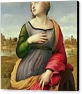 Saint Catherine Of Alexandria Canvas Print by Raphael