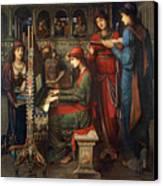 Saint Cecilia Canvas Print by John Melhuish Strudwick