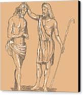 Saint John The Baptist Canvas Print by Aloysius Patrimonio