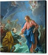 Saint Peter Invited To Walk On The Water Canvas Print