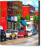 Saint Viateur Street Canvas Print
