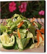 Salad On The Terrace Canvas Print by Murtaza Humayun Saeed