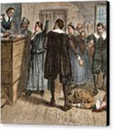 Salem Witch Trials, 1692 Canvas Print by Granger
