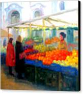 Salzburg Shoppers Canvas Print