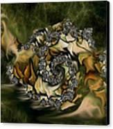 Sammy Snail Canvas Print by Julie Grace