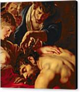 Samson And Delilah Canvas Print by Rubens