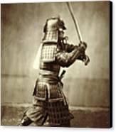 Samurai With Raised Sword Canvas Print by F Beato