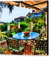 San Clemente Estate Patio 2 Canvas Print by Kathy Tarochione