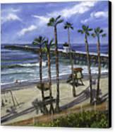 San Clemente Pier Canvas Print by Lisa Reinhardt