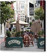 San Francisco - Maiden Lane - Outdoor Lunch At Mocca Cafe - 5d17932 Canvas Print by Wingsdomain Art and Photography