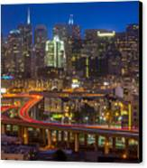 San Francisco From Potrero Hill Canvas Print by Inge Johnsson