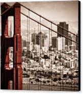 San Francisco Through The Bridge Canvas Print by Matt  Trimble