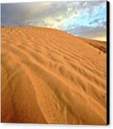 Sand Dune At Great Sand Hills In Scenic Saskatchewan Canvas Print