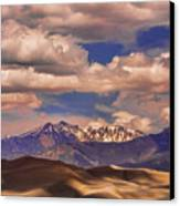 Sand Dunes - Mountains - Snow- Clouds And Shadows Canvas Print by James BO  Insogna