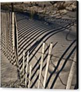 Sand Fence Canvas Print by Joel P Black