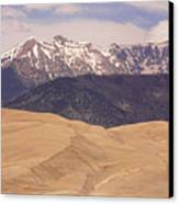 Sangre De Cristo Mountains And The Great Sand Dunes Canvas Print by James BO  Insogna