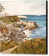 Santa Cruz By The Bay Canvas Print by Ann Caudle