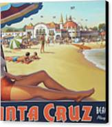 Santa Cruz For Youz Canvas Print by Bob Christopher