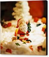 Santa In Town Canvas Print