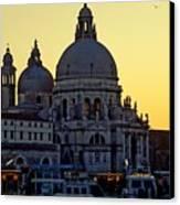 Santa Maria Della Salute On Grand Canal In Venice Against The Evening Sky Canvas Print