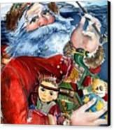 Santa Canvas Print by Mindy Newman