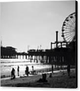 Santa Monica Pier Canvas Print by John Gusky