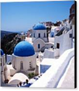 Santorini Churches Canvas Print