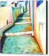 Santorini Steps Canvas Print