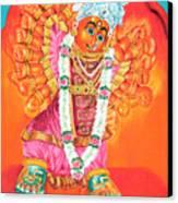Saptashrungi Devi Nasik Maharashtra Canvas Print by Kalpana Talpade Ranadive