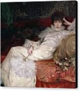 Sarah Bernhardt Canvas Print by Georges Clairin