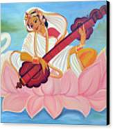 Saraswati Canvas Print by Shruti Prasad