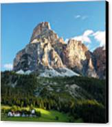 Sassongher At Sunrise, Alta Badia Canvas Print by Matteo Colombo