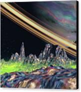 Saturn View Canvas Print
