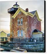 Saugerties Lighthouse Canvas Print by Nancy De Flon