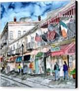 Savannah Georgia River Street Canvas Print
