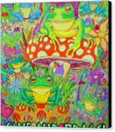 Save Our Frogs Canvas Print by Nick Gustafson