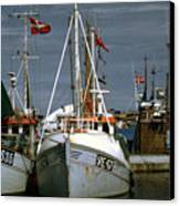 Scandinavian Fisher Boats Canvas Print